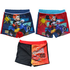 Boy Trunks Kids Toddler Swimsuit Bathing 1-8Y McQueen car Mickey Free Shipping