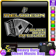 Melodeon Dude With Attitude - Sheet Music & Accessories Bag by MusicaliTee