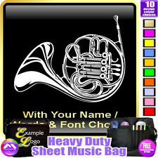 French Horn Picture With Your Words - Sheet Music & Accessories Bag MusicaliTee