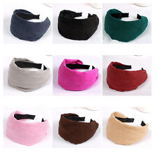 Girls' Womens Classic Flannel Wide Head band Hairband Hair Jewelry 8 Colors HOT