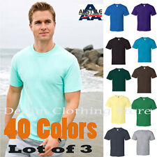 LOT OF 3  ALSTYLE APPAREL AAA SHORT SLEEVE PLAIN SOLID T-SHIRTS SIZE S-5XL