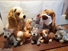 RARE Disney Lady & the Tramp soft plush toy figure Trusty Cavalier Bloodhound