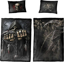 GAME OVER Reversable Duvet Cover Single Bed Set by SPIRAL - Goth, Rock,
