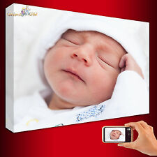 "Your Photo/Picture/Image on to Personalised BOX FRAMED Canvas Print A1 30"" x 20"""