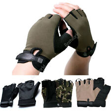 Cycling Bike Bicycle Half Finger Fingerless Sport Gloves Size S-L 09