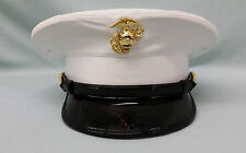 NEW USMC Marine Corps Dress Blues White Cloth Cover Hat Cap FREE EGA & SHIPPING