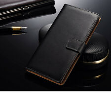 For Nokia Lumia 1520 Genuine Real Leather Flip Case Card Wallet Stand Cover