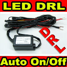 LED Daytime Running Light Auto Controlled DRL Relay Harness On/Off Switch kit