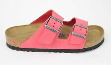 Birkenstock Women's Arizona Soft Footbed Coral Nubuck Sandals 752471