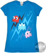 OFFICIAL PAC-MAN - Ghost lighting women's T-shirt NEW LICENSED Band Merch All Si