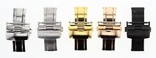14-16-18-20-22-24MM DEPLOYMENT BUCKLE CLASP FOR LEATHER BAND STRAP ROLEX #2