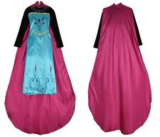 FROZEN STYLE ADULT PRINCESS ELSA DRESS AND CAPE COSPLAY PARTY FANCY COSTUME  321