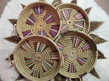 TRADITIONAL AFRICAN ZULU COILED BASKET TRAY - Beautiful Designs - SELECT ONE