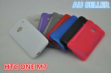 HTC ONE M7 S Curve Slim Soft Silicone Rubber Gel Back Cover Case