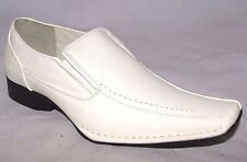 BB&W M1759 Men Professional Slip On White Loafer Dress Formal Work Casual  Shoes