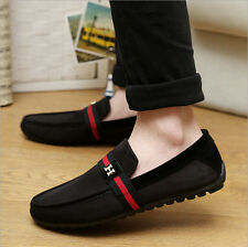 NEW Leather Slip On Mens Driving Moccasin Loafer Casual Shoes