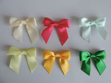 16mm wide Double Sided Satin Ribbon Bows x 10 in 6 NEW COLOURS