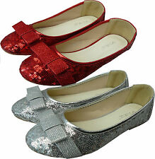 BNIB GIRLS INFANT KIDS SILVER & RED GLITTER SEQUIN PARTY WEDDING SHOES SIZE 10-2
