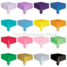 Plastic TABLECOVERS / Table Cloth / Table Cover for Party & Events - 20 Colours