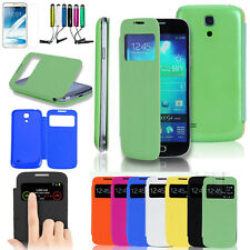New Luxury Flip PU Leather Stand Case Cover For Samsung Galaxy S4 Mini i9190