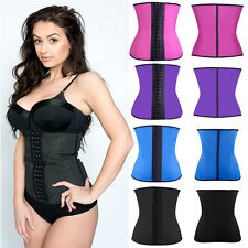 Latex Waist Cincher Boned Corset Underbust Body Shaper UK 6/8/10/12/14/16/18