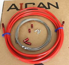Aican PREMIUM ROAD MTB Mountain bike BRAKE cable housing set kit Jagwire, Red