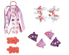 Gymboree Cherry Blossom Pony-o Fan Clips Curlies Barrettes Cat Flowers U Pic