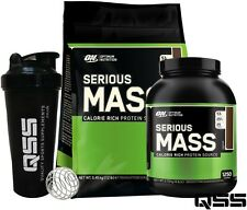ON OPTIMUM NUTRITION SERIOUS MASS WEIGHT GAINER PROTEIN SHAKE 12LBS / 6LBS