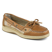 Sperry Women's Shoes Angelfish Linen Gold STS90752