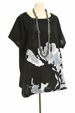 Gorgeous C'Fait Pour Vous quirky plus size tunic top with abstract print – Ma...