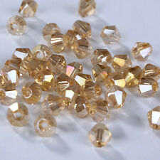 Fashion DIY jewelry 3mm/4mm100/1000pcs Glass Crystal #5301 Bicone Beads New #207