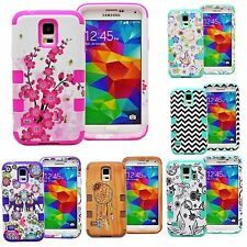 Shockproof Hybrid Rugged Rubber Hard Case Cover for SAMSUNG GALAXY S5 i9600
