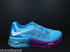 Nike Air Max 360 2015 Youth Sizes 4 - 6 Women's 5.5 -7.5 705458 400 Blue Purple