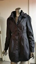 NWT Stussy Girls Blk Drawstring Bottom Rain Jacket Junior Coat