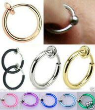 Fake Spring Clip On Nose Ring Septum Ring Lip Ring Fake Earring Piercing Rings