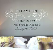 Snow Patrol Chasing Cars lyrics, song quote, Wall art sticker, Vinyl Decal multi