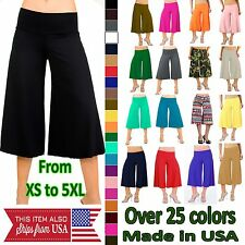 Capri Gaucho Palazzo Pants Wide Leg Low Waist Flowy and Comfy