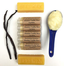 All Organic Absolute Vanilla Shea Lip Balm; Butter; Natural Beeswax