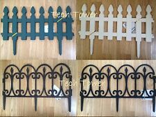 Garden Picket Fence Plastic PVC  Lawn Edging Fencing