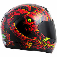 Scorpion EXO-R410 Full Face Helmet Dr Sin Graphic Red Free Size Exchanges