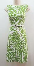 Jessica Howard Lime Green Fit And Flare A-line Belted Cocktail Summer Dress