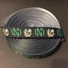 "7/8"" Black North Dakota Fighting Sioux Grosgrain Ribbon by the Yard (USA SELLER)"