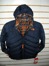 THE NORTH FACE BOYS REVERSIBLE PERRITO POLYFILL JACKET - COSMIC BLUE- LARGE -NEW