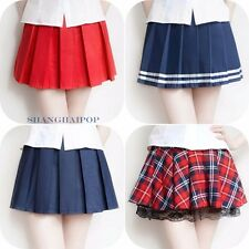 Pleated Mini Skirt School Uniform Check/Plaid/Tartan/Stripe Skater High Waisted