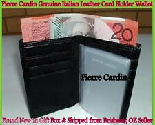 Pierre Cardin-Italian Leather Silm Wallet-Business Credit Card Holder-Note Purse