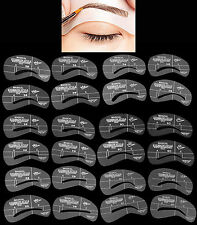 24 Magic Eyebrow Stencils Makeup Styles Eyebrow Template Shaper - US Seller