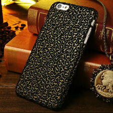 For iPhone 5S 6 6 Plus 3D Retro Vine Patterned Effect Hard Back Case Cover Skin