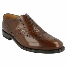202T MENS LOAKE BROWN POLISHED LEATHER LACE UP FIT G FORMAL SMART BROGUE SHOES