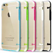 Clear Hard Back Silicone Bumper Case For New Apple iPhone 6 & 6 Plus