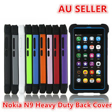 Nokia N9 Rubber and Hard 2 in 1 Heavy Duty Back Cover Case